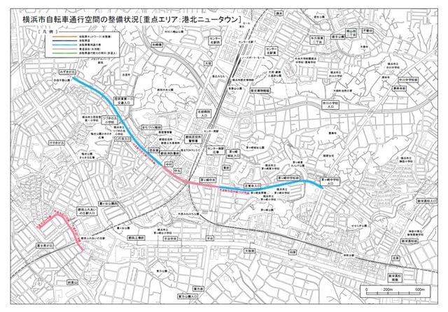 港北ニュータウン地図PDFへのリンク