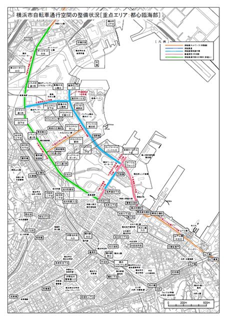 横浜市都心部地図PDFへのリンク